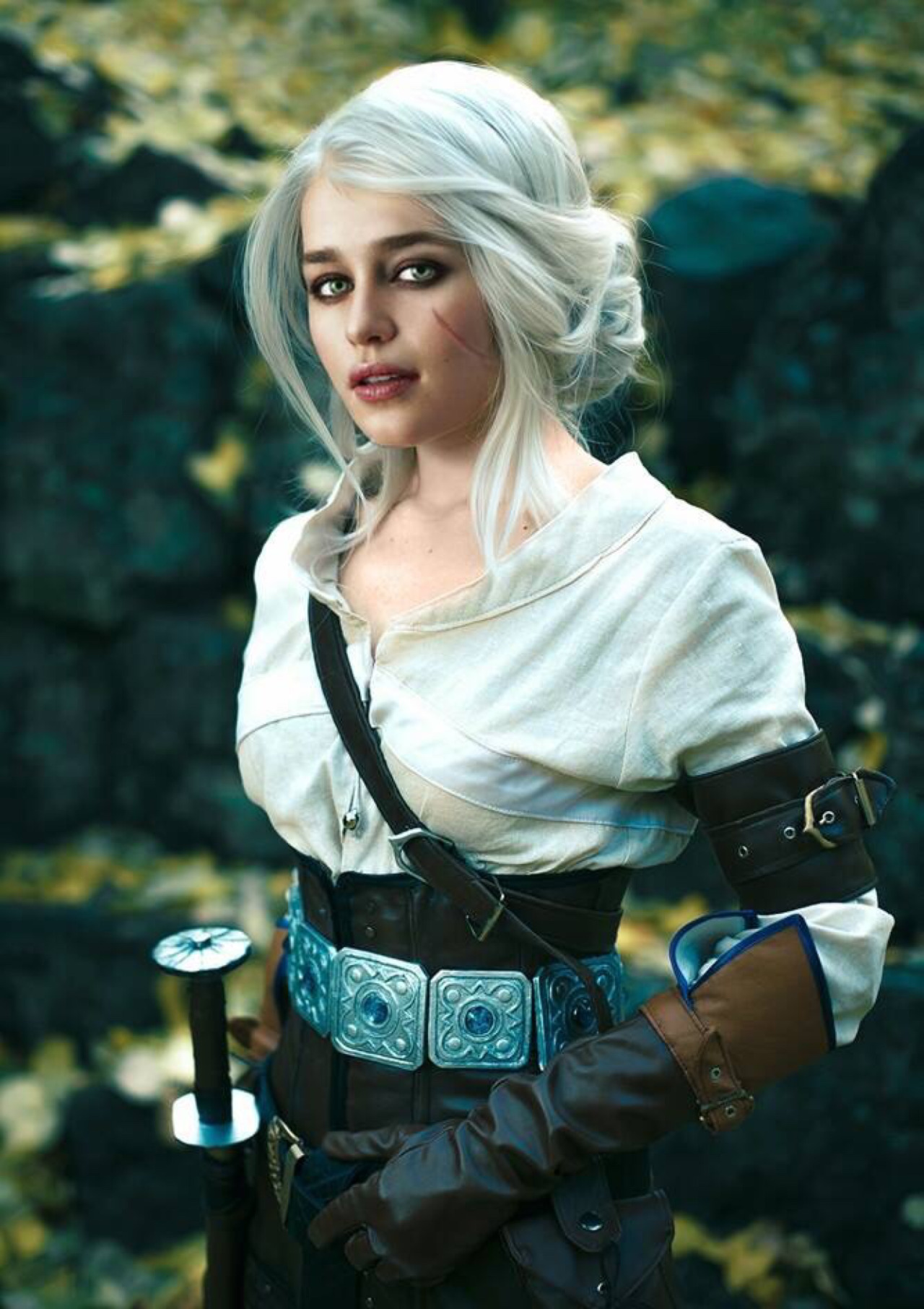 game of thrones, emilia clarke, daenerys targaryen, game of thrones cast, ciri, the witcher 3, photoshop, cosplay