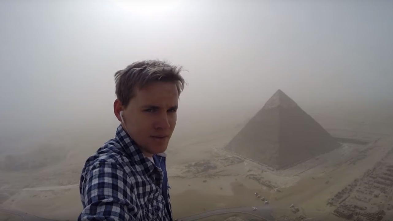 german, egypt, pyramid of giza, daredevil, climbers, andrej ciesielski, adventure, tourism, travel, munich, cairo