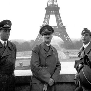 hitler in front of Eiffel tower