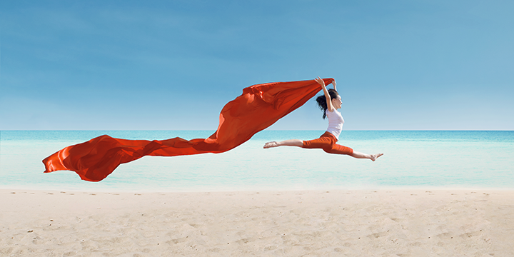 agile development, girl flying with red cloth