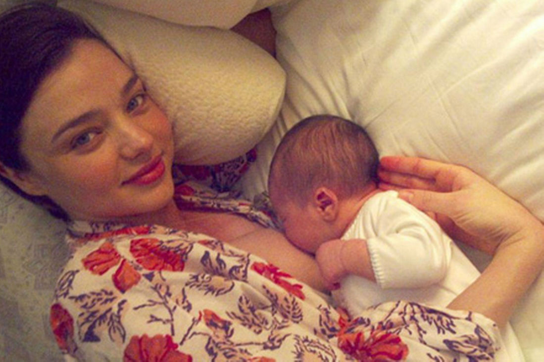 celebrities big breasts when breastfeeding