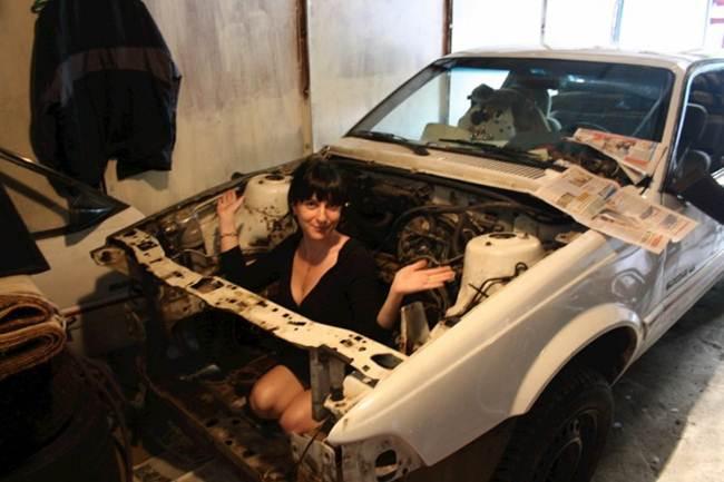 russia, russian, russian girls, viral, girl with car, moscow, russia, girl car repairs, hot mechanic, girl mechanic