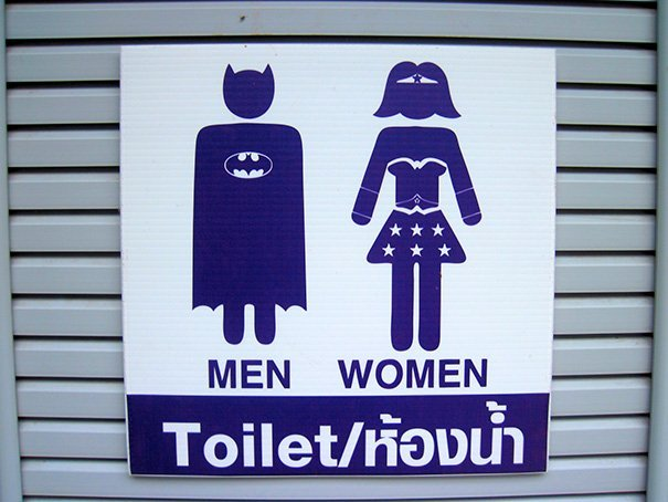 picture regarding Bathroom Sign Printable named 15 Humorous and Innovative Rest room Signs and symptoms against In the vicinity of the World wide