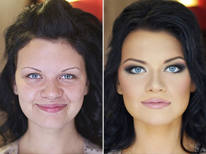 20 Photos Proving You Should Never Trust A Woman In Make Up
