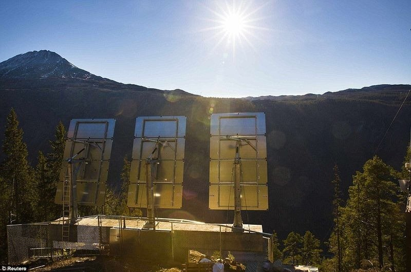 norway, rjukan, rjukan mirrors, 6 month night 6 month day, solar mirror, giant mirrors
