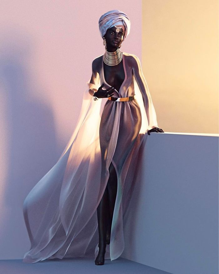 supermodel, fashion, fake model, black model, shudu gram, digital supermodel, viral photo, instagram