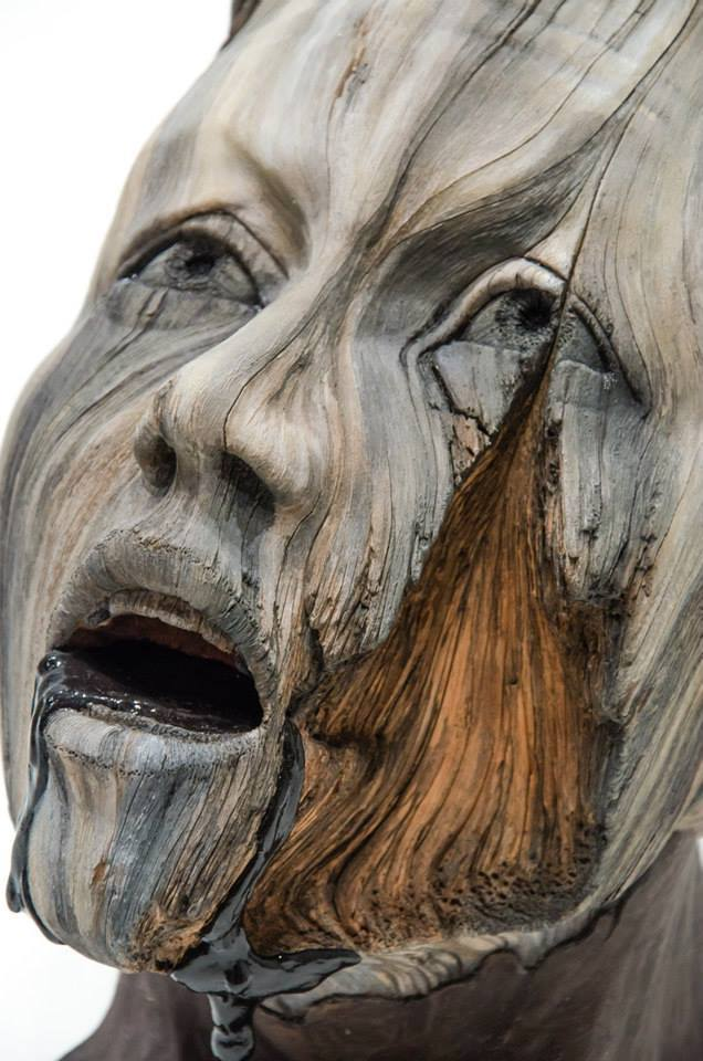 25  Amazing  U0026 Realistic Wooden Sculptures That Will Give You Goosebumps