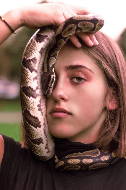 girl with python